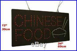 Chinese Food Sign TOPKING Signage LED Neon Open Store Window Shop Business Di