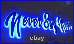 Custom Stainless Steel Boat Yacht Lettering With Led Lights. Custom Store Signs