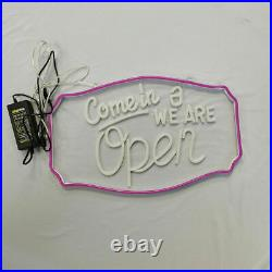 Customized LED Rope Light Come in, We are Open Sign for Store Hotel Xmas Decor