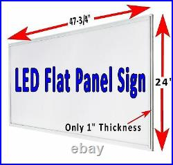 DELI Sandwiches Made Fresh Daily 48x24 LED flat panel business store window sign