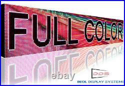 DIGITAL FULL COLOR LED SIGN 19 x 76 STORE SHOP BAR STILL SCROLLING TEXT BOARD