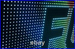DIGITAL SMD LED STORE SIGN 6 x 76 FULL COLOR 10MM PITCH BUSINESS OPEN DISPLAY