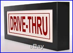 DRIVE-THRU Restuarant Store LED Illuminated Sign Light Box with remote