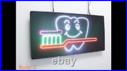 Dentistry, Dental Tooth Brush Sign, TOPKING Signage, LED Neon Open, Store, Shop