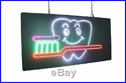 Dentistry Dental Tooth Brush Sign TOPKING Signage LED Neon Open Store Window
