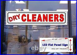 Dry CLEANERS Led window Business store sign 48x12 Flat Panel Design