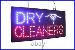 Dry Cleaners Sign, TOPKING Signage, LED Neon Open, Store, Window, Shop, Display