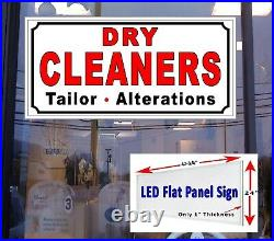 Dry Cleaners Tailor Alterations 48x24 LED flat panel business store window sign