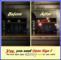 Extra Large LED Business Open Sign Ultra Bright 32 Remote Restaurant Store Bar