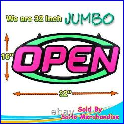 Extra Large LED Neon Open Sign Light Restaurant Bar Club Shop Store Business
