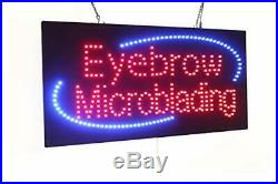 Eyebrow Microblading Sign Super Bright LED Open Sign Store Sign Business Sign