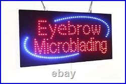 Eyebrow Microblading Sign, Super Bright LED Open Sign, Store Sign, Business Sign