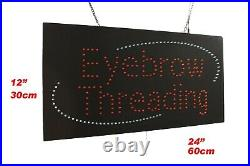 Eyebrow Threading Neon Sign LED Open Sign Store Sign Business Sign Window Sign