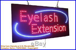 Eyelash Extension Neon Sign LED Open Sign Store Sign Business Sign Window Sign