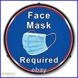 FACE MASK REQUIRED Sign 14 LED Light Store Business Made USA Lifetime Warranty