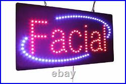 Facial Sign, Signage, LED Neon Open, Store, Window, Shop, Business, Display