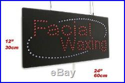 Facial Waxing Neon Sign LED Open Sign Store Sign Business Sign Window Sign