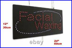 Facial Waxing Sign TOPKING Signage LED Neon Open Store Window Shop Business D