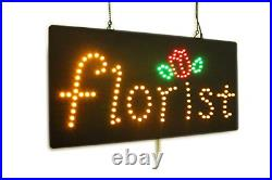 Florist, Flowers Sign, Super Bright High Quality LED Open Sign, Store Sign, LED