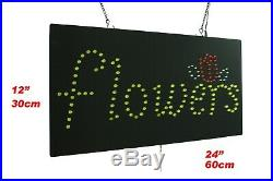 Flowers Neon Sign LED Open Sign Store Sign Business Sign Window Sign