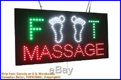 Foot Massage Neon Sign LED Open Sign Store Sign Business Sign Window Sign