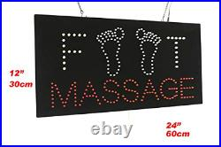 Foot Massage Sign, TOPKING Signage, LED Neon Open, Store, Window, Shop, Display