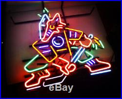 Fox Hockey Neon Sign Light Vintage Beer Bar Pub Store Shop Room Wall Decor LED