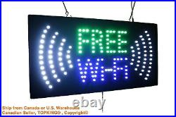 Free WiFi Sign Neon Sign LED Open Sign Store Sign Business Sign Window Sign