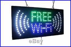 Free WiFi Sign TOPKING Signage LED Neon Open Store Window Shop Business Displ