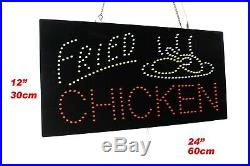 Fried Chicken Neon Sign LED Open Sign Store Sign Business Sign Window Sign