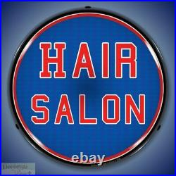 HAIR SALON Sign 14 LED Light Store Business Advertise Made USA Life Warranty