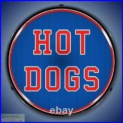 HOT DOGS Sign 14 LED Light Store Business Advertise Made USA Lifetime Warranty