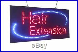 Hair Extension Sign TOPKING Signage LED Neon Open Store Window Shop Business