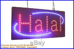 Halal Sign Neon Sign LED Open Sign Store Sign Business Sign Window Sign