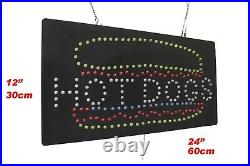 Hot Dogs Sign Neon Sign LED Open Sign Store Sign Business Sign Window Sign