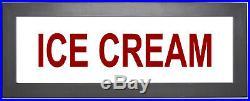 ICE CREAM Shop or Store Illuminated Sign Nostalgic Light Box with remote