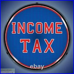 INCOME TAX Sign 14 LED Light Store Business Advertise USA Lifetime Warranty New