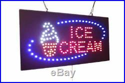 Ice Cream Sign TOPKING Signage LED Neon Open Store Window Shop Business Displ