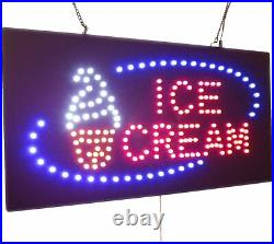 Ice Cream Sign TOPKING Signage LED Neon Open Store Window Shop Business Display