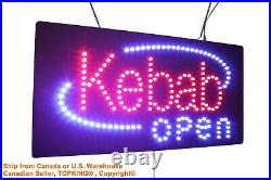 Kebab Open Sign Neon Sign LED Open Sign Store Sign Business Sign Window Sign