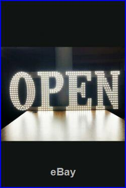 LARGE (17X51) LED Business Sign OPEN Light Bar Store Shop Display Board
