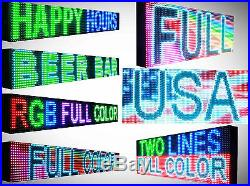 LED Beer store Full color Sign 10MM 12 x 63 programmable Scroll OUTDOOR board
