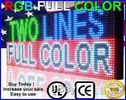 LED Beer store Full color Sign 10mm 19 x 63 Orogrammable Scroll OUTDOOR board
