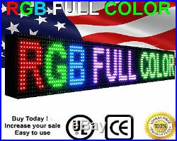 LED Beer store Fullcolor Sign p10, 12 x 63 programmable Scroll Message board