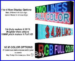LED Beer store Fullcolor Sign p10, 13 x 63 programmable Scroll Message board