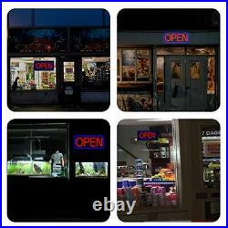 LED Business Advertisement Open Sign Electric Display Store Sign, 24 Blue/Red