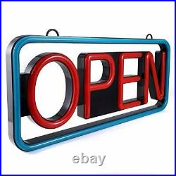LED Business Advertisement Open Sign Electric Display Store Sign, 24 x 12 inch