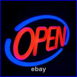 LED Business Neon Open Sign Bright Display Store Sign, 24 x 12 inch Red/Blue