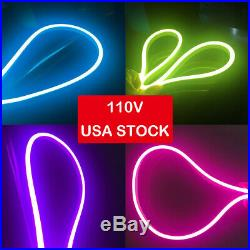 LED Commercial Neon Rope Light Flexible Waterproof Store Home Party Sign Decor