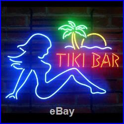 LED Gift Tiki Bar Girl Beer Pub Store Party Homeroom Wall Decor Neon SIGN 19x15